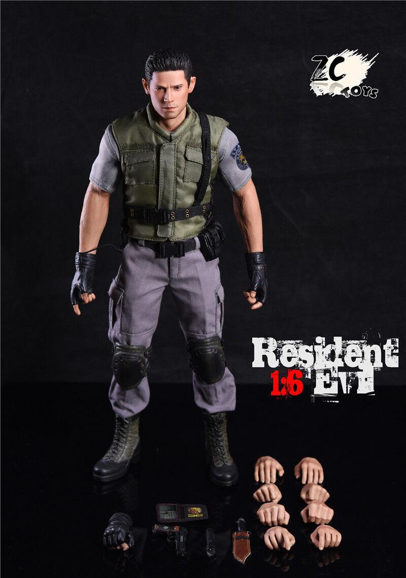 1/6 ZCtoys Resident Evil 3 la extinción estrellas Chris Redfield En Stock