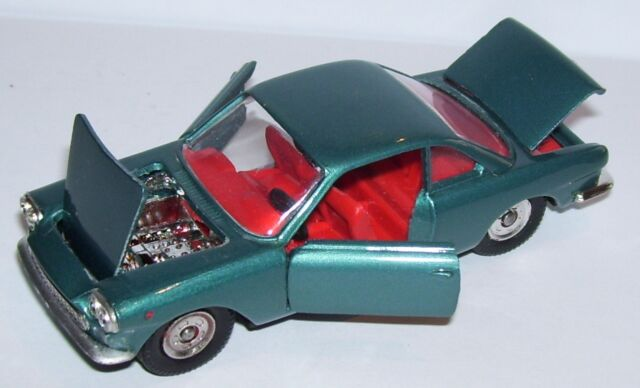 RARE OLD POLITOYS M FIAT SIATA 1500 COUPE BLUE METAL 1965 REF 502 1/43