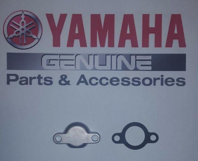 Vintage Yamaha Motorcycle Oil Pump Block Off Cover Plate Cap & Gasket AHRMA
