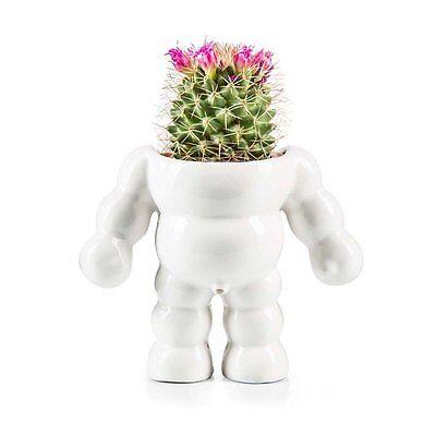 Donkey Products Blumentopf King Cactus Porzellan Weiß NEU + OVP