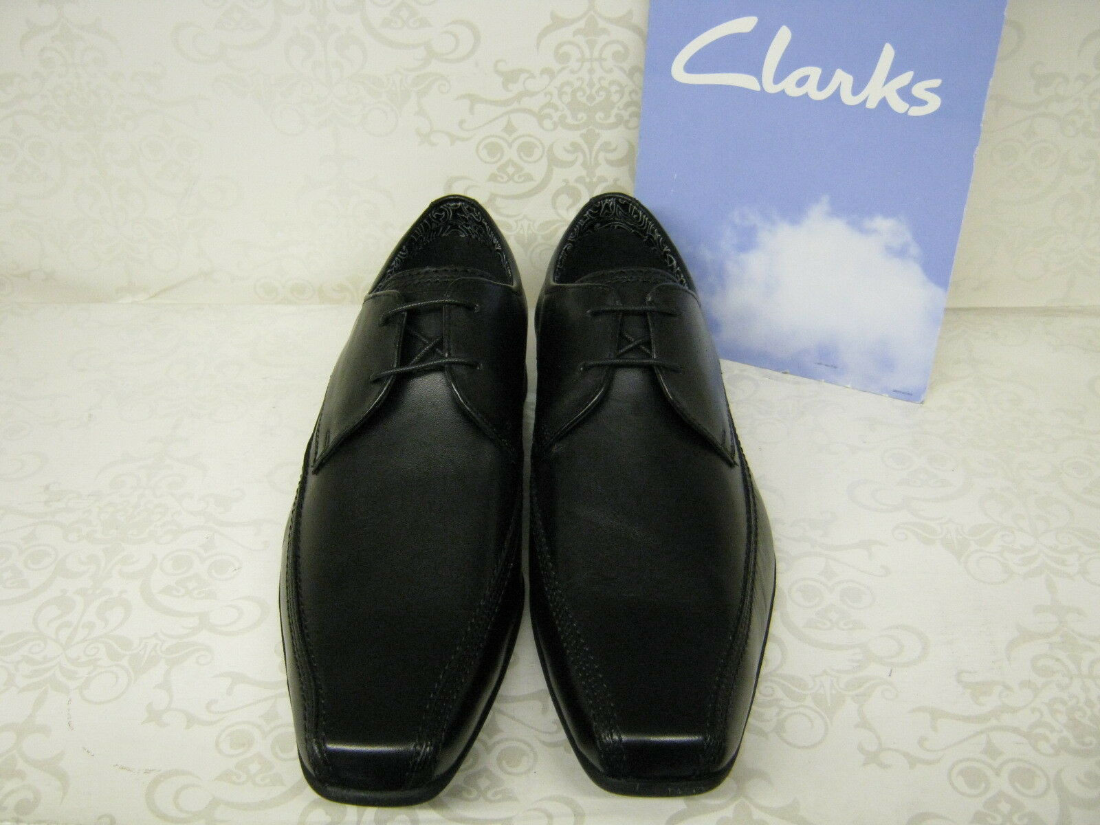 Clarks Aze Day Black Leather Smart Lace Up Shoes