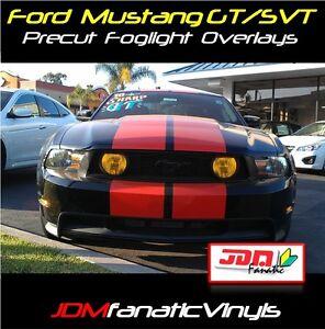 05-12 Mustang SVT GT Grille Fog Light Yellow Overlays t