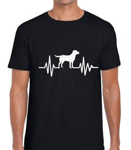 DOG ECG EKG HEARTBEAT FUNNY MENS T SHIRT ANIMAL LOVER GIFT IDEA CUTE COOL DESIGN