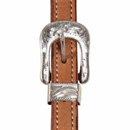 Western Horse Premium Leather Silver Show Headstall Bridle Medium OR Dark Oil
