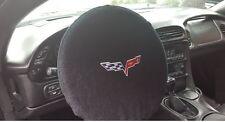 2005-2013 Chevrolet Corvette C6 Black Steering Wheel Cover Armour Protector NEW