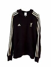 Liverpool Hoodied Top. Small Adults. Adidas. Black Adults Long Sleeves Football.