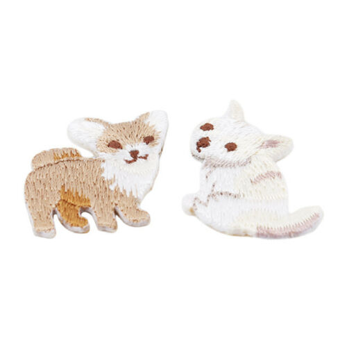 Rabbit Cat Bird Sequins Embroidered Sew On Coat Clothing Jeans Patch Applique W