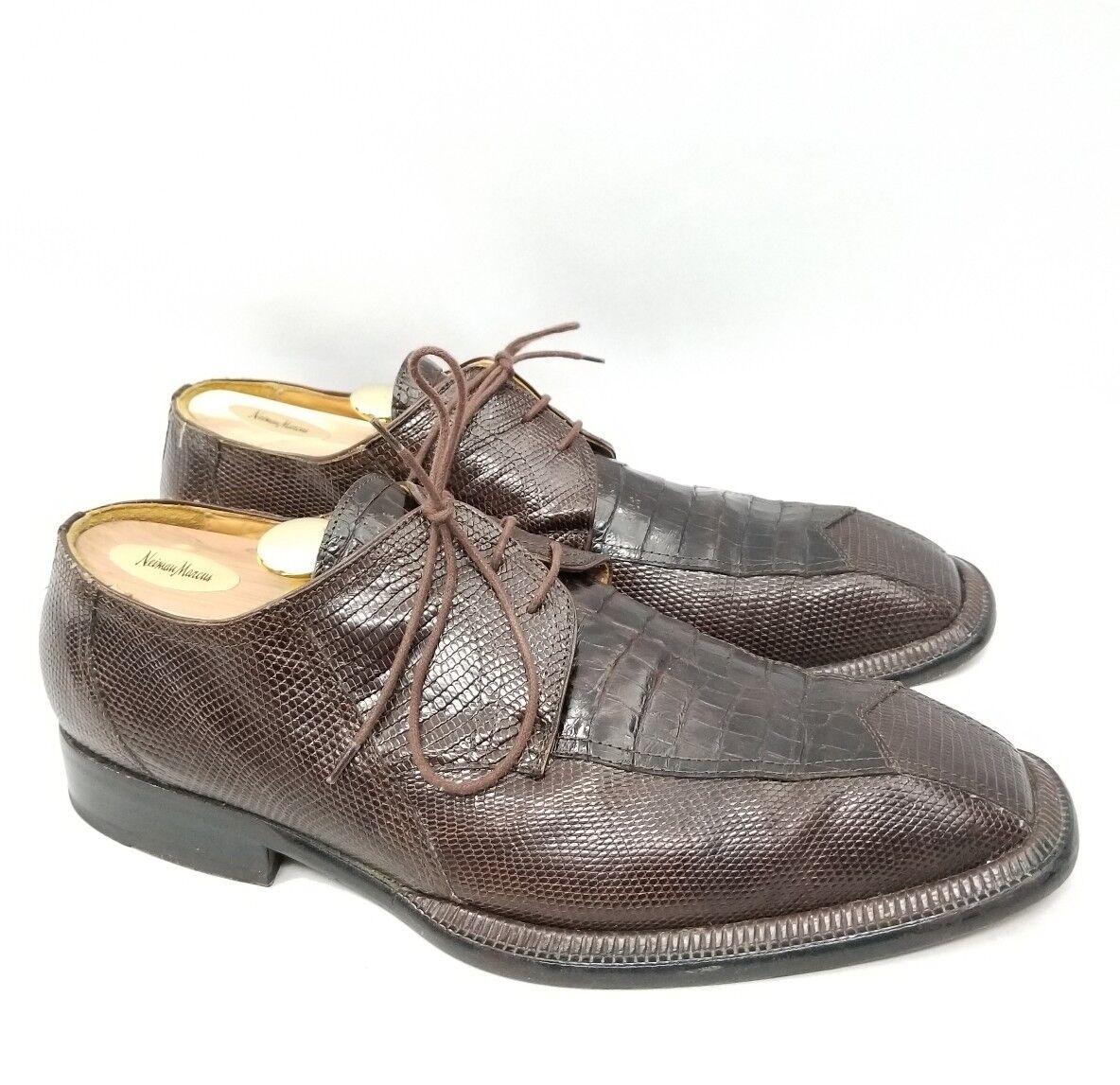 Zapatos de vestir David Eden Genuino Cocodrilo/Lagarto Para Para Cocodrilo/Lagarto hombres con encaje d577f4