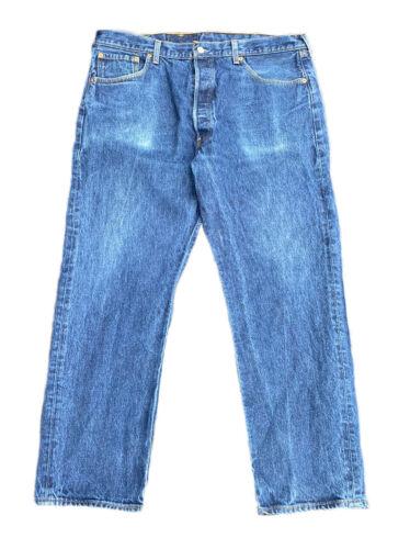 Vintage Levis 501xx Blue Denim Jeans 40x30 Button