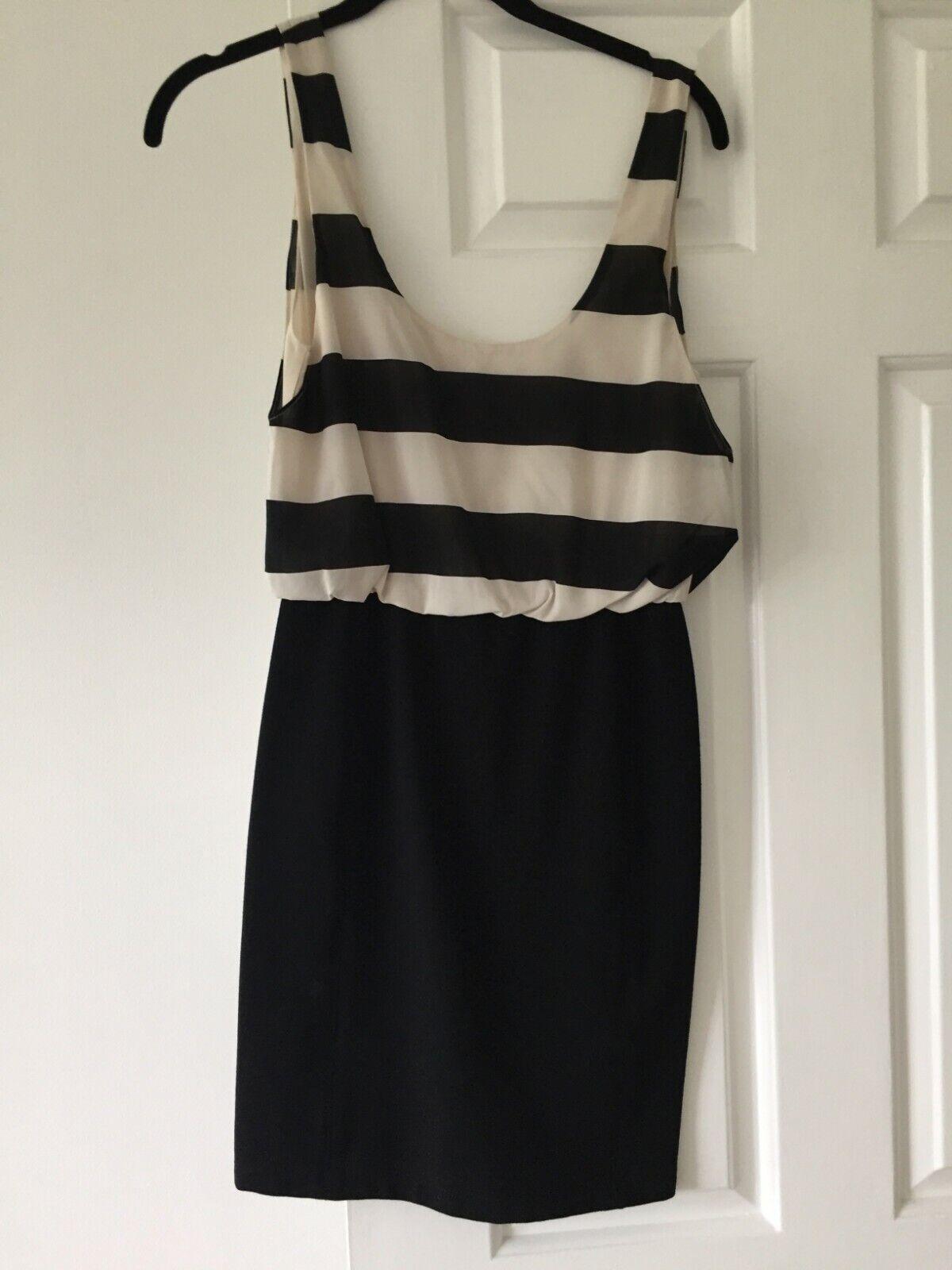Alice  Olivia Cóctel Negro Y blancoo & Vestido Talla 2  Web oficial
