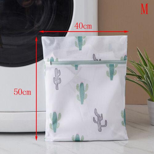 Polyester Mesh Laundry Bag Clothes Underwear Bra Washing Bag Cactus Printing ZH
