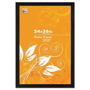 DAX-noir-en-bois-massif-Affiche-Frames-Avec-Plastique-Fenetre-Large-Profil-24-x-36-2863U2X