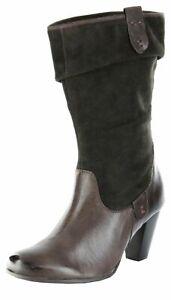 Details zu Marc Stiefel braun Damen Leder Trichterabsatz Schuhe Perla 2 1.405.27 89 moro
