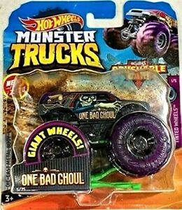New 2020 Hot Wheels Monster Jam One Bad Ghoul Monster Truck 1 64 Rare Htf Ebay