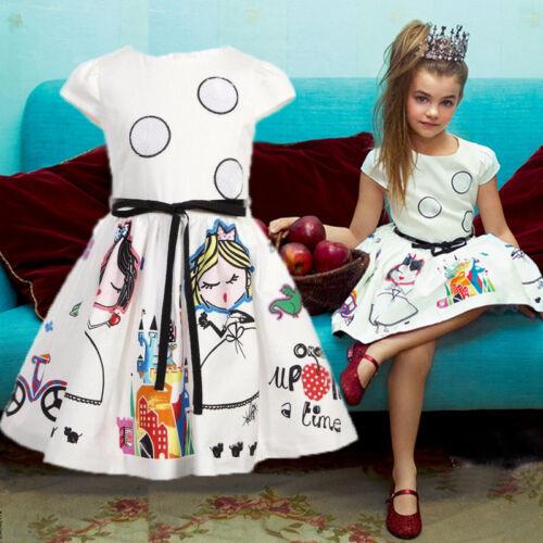 Toddler Kids Baby Girls Princess Sleeveless Dress Wedding Party Pageant Dresses