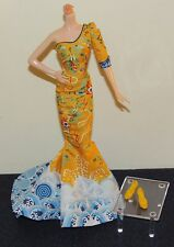 Barbie Fan Bingbing Fashion OUTFIT ONLY Yellow Dragon Dress Gown & Shoes NEW