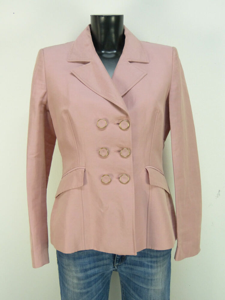 Antonio Fusco Blazer Femmes T 40/rosa & Neuf Avec étiquette (o 5097)