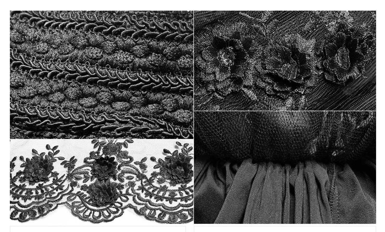 Jupe patineuse jupon gothique lolita baroque soirée dentelle pinks pinks pinks black PunkRave 6a1758