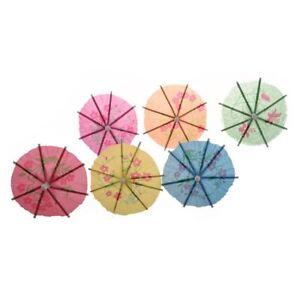 72-pieces-colorees-Parapluies-Parasols-de-Cocktail-en-papier-mixte-pour-Boi-X6X3