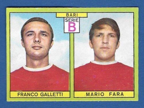 FIGURINA CALCIATORI PANINI 1968//69 BARI GALLETI//FARA RECUPERO