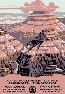 T22-Vintage-Grand-Canyon-National-Park-America-Travel-Poster-RePrint-A1-A2-A3-A4