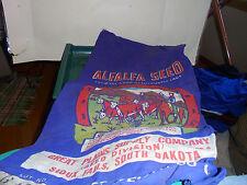 ALFALFA SEED SACK GREAT PLAINS SUPPLY CO SIOUX FALLS SD G1795 60 LBS LAND PURPLE