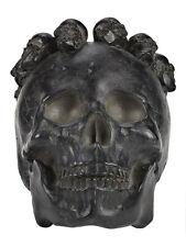 Black Sugar Skull Crown Gothic Punk Pinup Tattoo Day Of The Dead Girl Head Decor