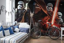 Giant paper wallpaper 368x254cm Star Wars Kylo Ren & stormtroopers wall mural