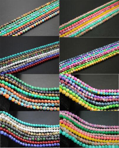 "92PCS Beads Mixed 15/"" 1strand Natural Gemstone Round Loose Spacer Beads 4mm DIY"