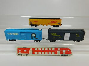 AQ888-1-3x-Bachmann-H0-DC-Bastler-US-USA-Gueterwagen-Rock-UP-518125-etc