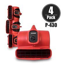 Xpower P 430 13 Hp 3 Speeds Air Mover Carpet Dryer Blower Floor Fan 4 Pack