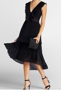 sexy cocktailkleid abendkleid plisseekleid kleid von apart gr34/36 schwarz neu  ebay