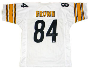 cheaper 588d0 8f836 Details about ANTONIO BROWN SIGNED AUTOGRAPHED PITTSBURGH STEELERS #84  WHITE JERSEY JSA