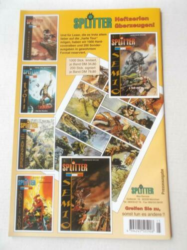 WITCHBLADE Heft 15 Splitter Verlag Presse Cover Variant NEU