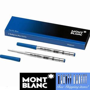 MONTBLANC-2-Kugelschreiber-Minen-116212-Fine-Point-Pazifikblau-Stift-Patrone