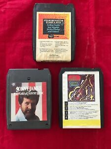 Country-Music-3-VINTAGE-8-TRACK-TAPES