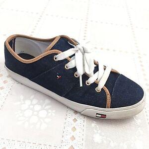 2a4e00c47f3ed TOMMY HILFIGER Womens Sneakers Twaerie size 8 M Blue Denim Fashion ...