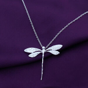 925-Sterling-Silver-X-039-mas-Gift-Vintage-Dragonfly-Necklace-Pendants-For-Women-New