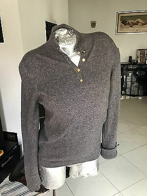 Chanel Kaschmir Cashmere Pullover Grau Original