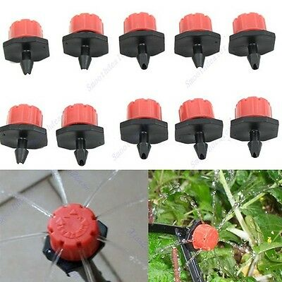10/20/50pc Garden Irrigation Misting Micro Flow Dripper Drip Head 1/4'' Hose