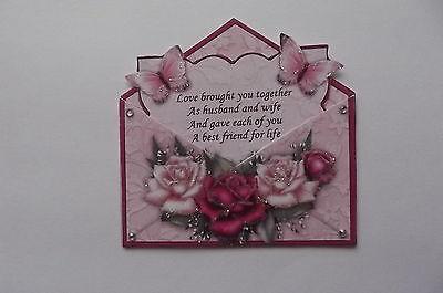 *** pack 3 sur le jour de votre mariage toppers embellissement pour cartes ou artisanat ***