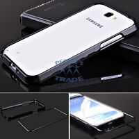Black Metal Aluminum Frame Bumper Case Cover For Samsung Galaxy Note 2 II N7100