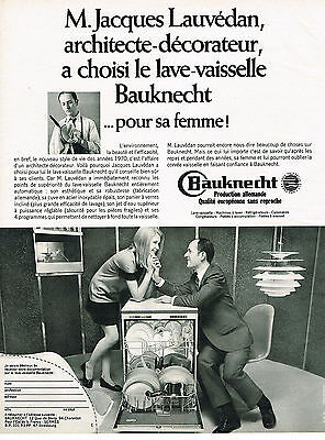 Alert Publicite Advertising 1970 Bauknecht Lave Vaisselle Jacques Lauvédan Do You Want To Buy Some Chinese Native Produce? Other Breweriana