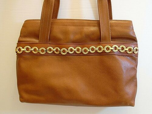 Vintage Fratini women's brown  leather Tote handba