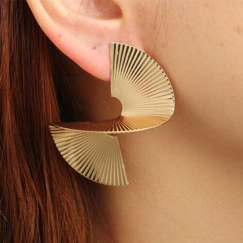 Gift Geometric Ear Stud Spiral Earrings 1 Pair Punk Female New Retro Statements
