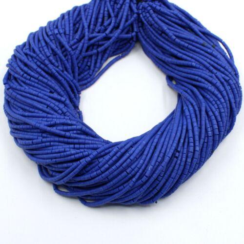 Blue Lapis Lazuli Heishi Tyre Wheel Seed Tribal Afghani Strand Craft Bead 2mm AA
