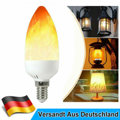 E14 2W LED Fackel Feuer Lampe Flammen Effekt Glühbirne Flacker Birne 25LM