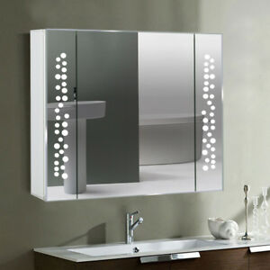 Details About Ing Bubbles Look Bathroom Mirror Cabinet Led Illuminated Lights With Socket