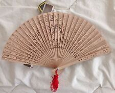 Brise Folding Fan with intricate cutouts from 1990's Never used