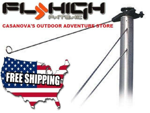 FLY HIGH WAKEBOARD WATERSKI ROPE GUIDE FITS TOWER & EXTENED BOAT PYLON W912 NEW